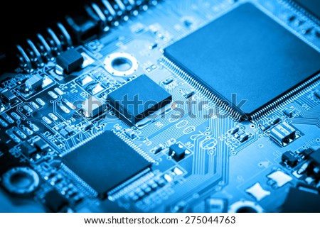 Circuit board background - stock photo