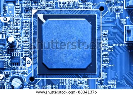 circuit board background - stock photo