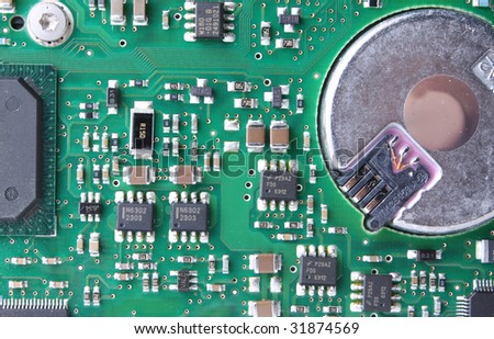 Circuit Board Detail - stock photo