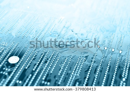 Circuit board digital highways of computer - stock photo