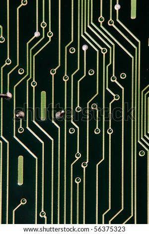 Circuit Board with dust before repairing - stock photo