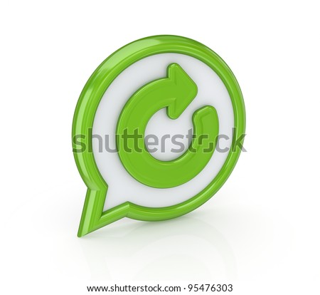 Circular arrow icon.Isolated on white background.3d rendered. - stock photo
