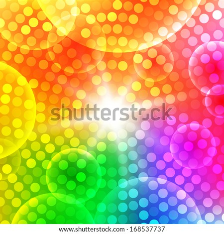 Circular Colorful Party Background. Raster illustration  - stock photo