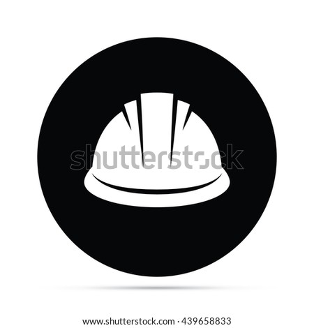 Circular Construction Hard Hat Icon.  Raster Version - stock photo