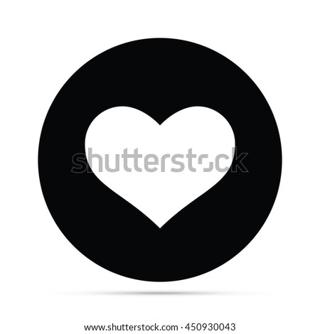 Circular Heart Icon.  Raster Version - stock photo