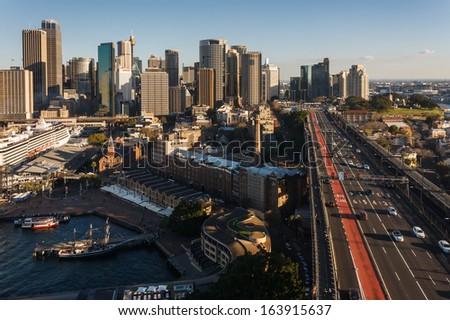 Circular Quay in Sydney - stock photo