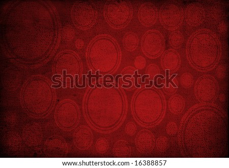 Circular red vintage background - stock photo