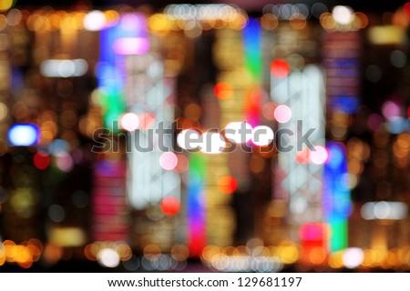 circular reflections blur light - stock photo