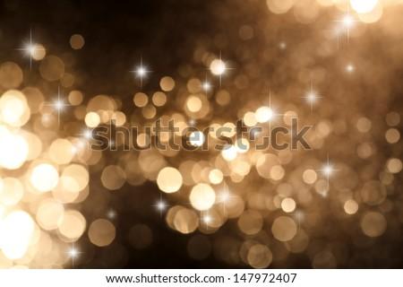 circular reflections of Christmas lights - stock photo