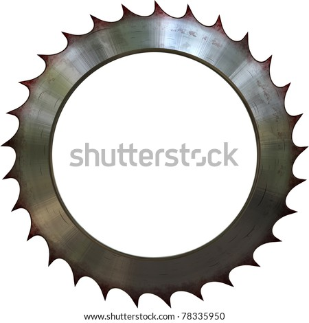 Circular saw in white background - stock photo