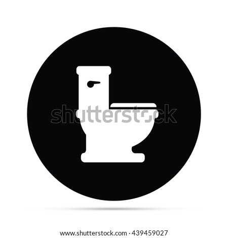 Circular Toilet Icon.  Raster Version - stock photo