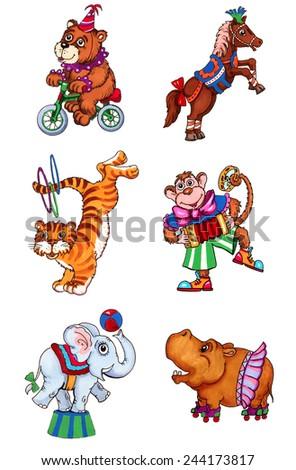Circus animals - stock photo