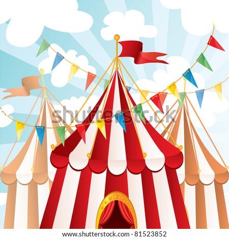 Circus background - stock photo