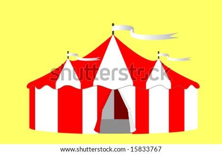 Circus Big Top Tent Illustration - stock photo