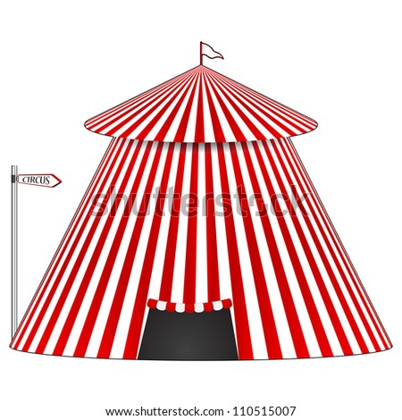 circus tent, abstract art illustration - stock photo