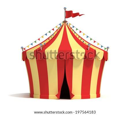 circus tent 3d illustration  - stock photo