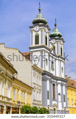 Cistercian Church in the City of Szekesfehervar, Hungary - stock photo