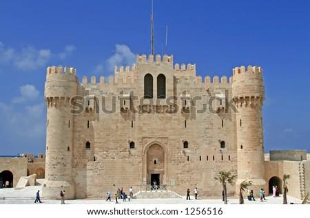 Citadel at the Alexandria, Egypt - stock photo