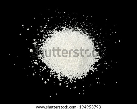 Citric Acid on Black Background - stock photo