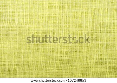 citron color close up linen texture background - stock photo