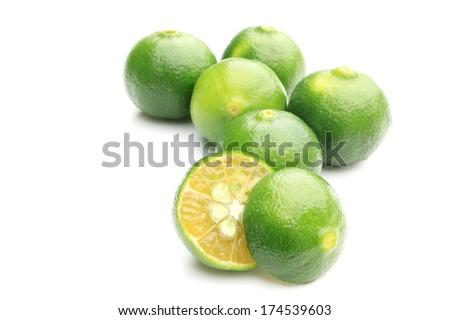 Citrus depressa - stock photo