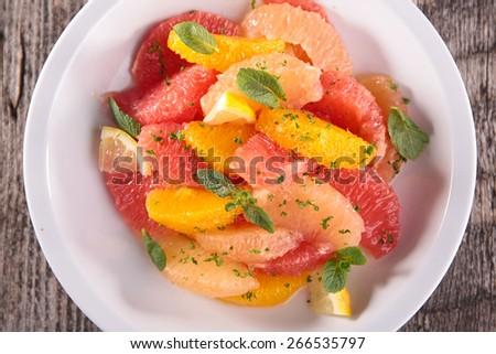 citrus fruit salad - stock photo
