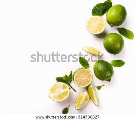 Citrus. Lime on the table - stock photo