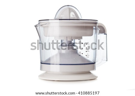 Citrus squeezer isolated on white background - stock photo