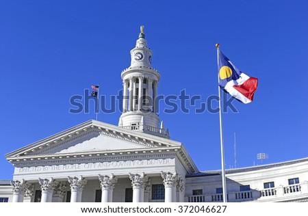 City and County Building, near State Capitol, Denver, Colorado - stock photo