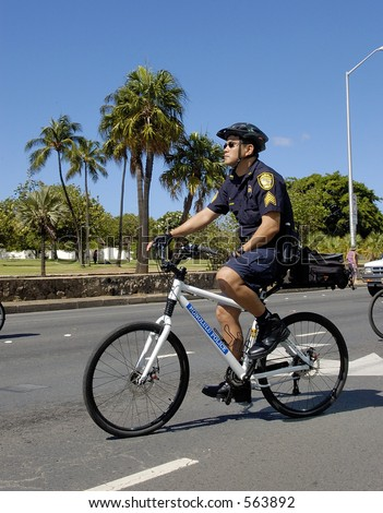 City and County of Honolulu Hawaii Police Officer - stock photo