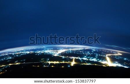 City at night. - stock photo