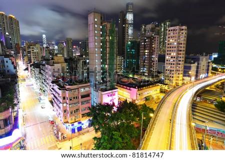 city at night - stock photo