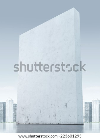 City behind the big wall - stock photo
