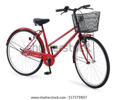 city bike isolated on white background - stock photo
