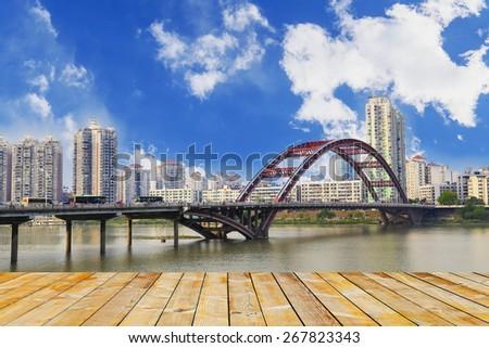 city bridge - stock photo