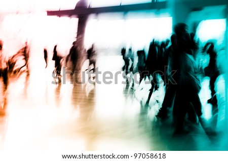 city business people group multicolored abstract background - stock photo