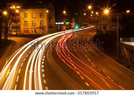 City by night 5 - stock photo