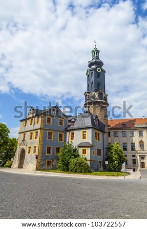 City Castle of Weimar in Germany - stock photo