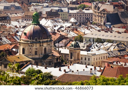city from above Europe - stock photo