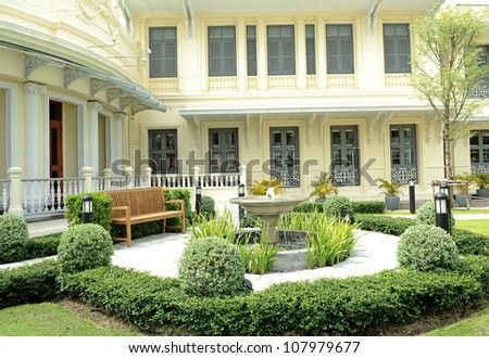 city garden - stock photo
