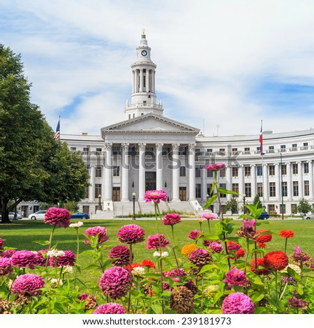 City Hall in downtown of Denver, Colorado. - stock photo