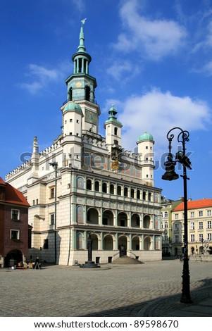 City Hall in Poznan, Poland - stock photo