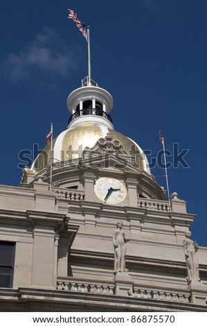 City Hall in Savannah - stock photo