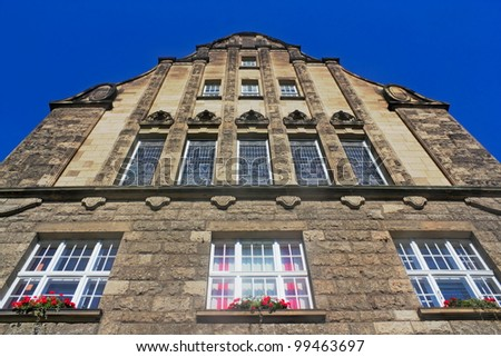 City Hall in Wittenberge - stock photo