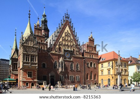 City Hall in Wroclaw (Poland) - stock photo