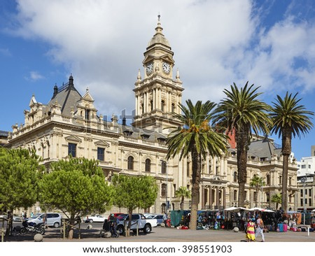 City Hall of Cape Tow, South Africa on the 25th of February 2016. - stock photo