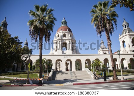 City hall of the Beverly Hills, Ca - stock photo