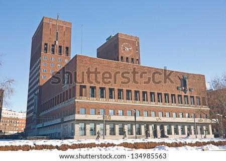 City hall, Oslo Norway - stock photo