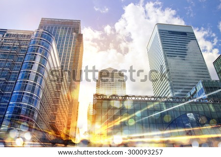 City illustration with traffic lights, London - stock photo
