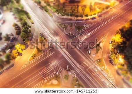 City intersection - stock photo